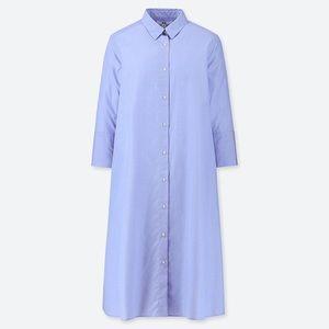🆕 UNIQLO Light blue a-line shirtdress